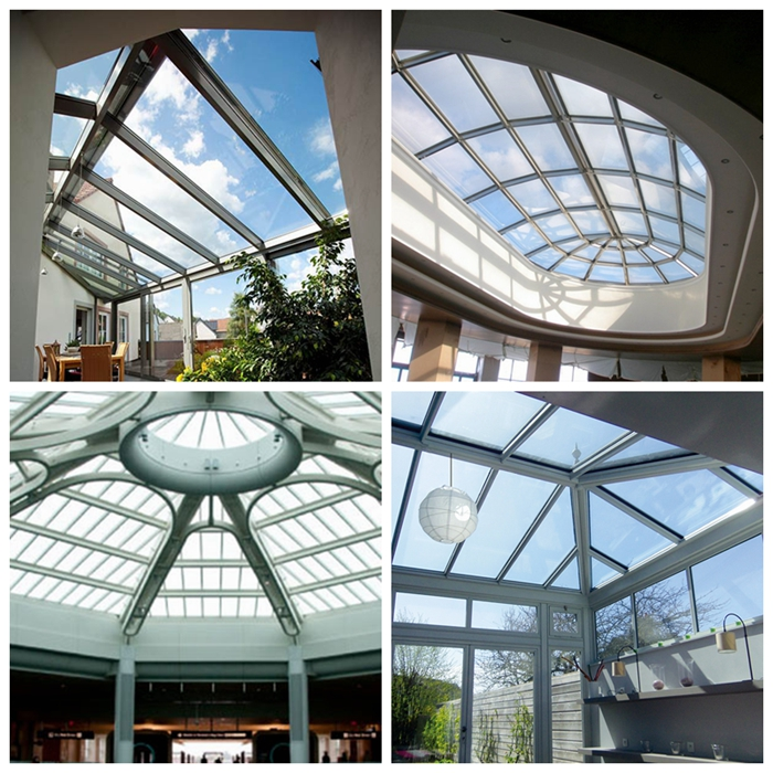 double glazed, skylight glass, roof glass, triple glass, toughened insulated glass, 24mm double glazing skylight, low E double glazing, 24.52mm insulating glass, glass canopy