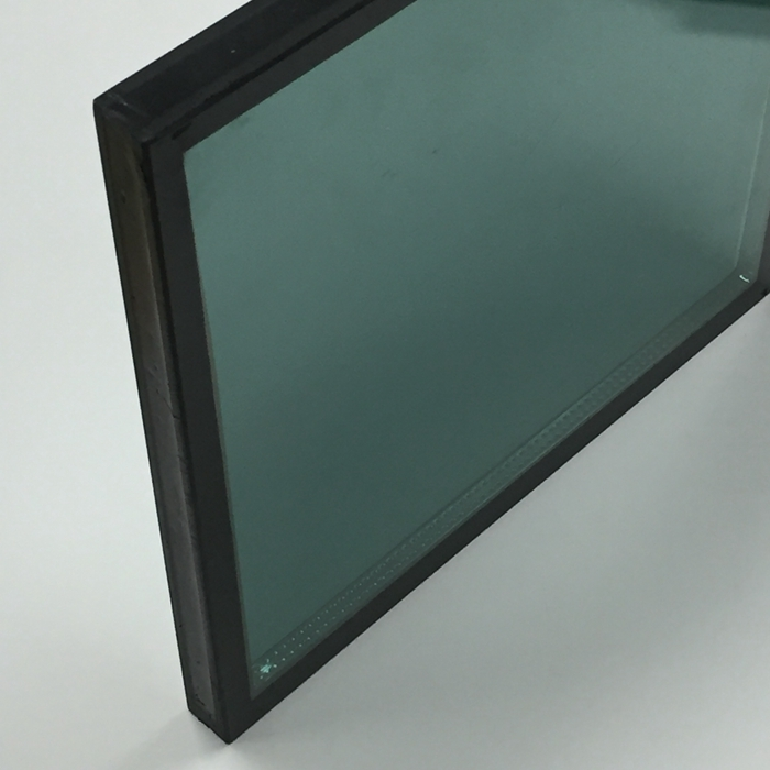 28mm double glazed, green tempered double glazing, green insulated glass price, light green ESG DGU, double glazed glass, toughened double glazed, building glass