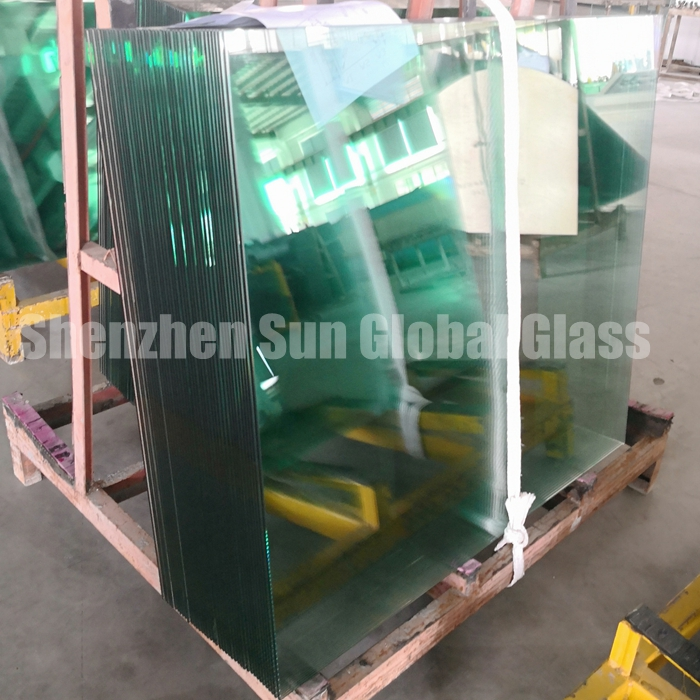 11.52mm french green tempered laminated glass, 11.52mm light green toughened laminated glass, 5mm+5mm green tempered sandwich glass