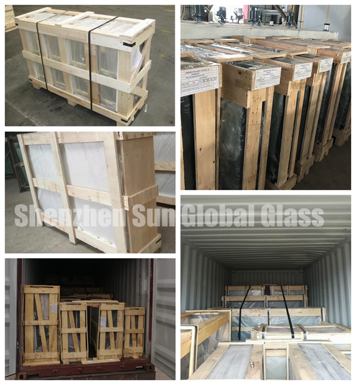 gradient tempered laminated glass factory, safety packaging