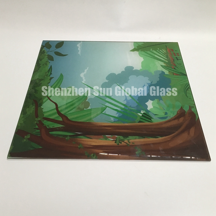 10mm digital printed glass