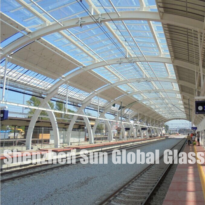 21.52mm laminated glass, 10+10 low iron laminated glass, PVB laminated glass, laminated glass roof, skylight, 21.52mm ESG VSG, China glass factory,