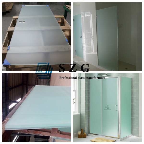 15mm acid etched tempered glass panel