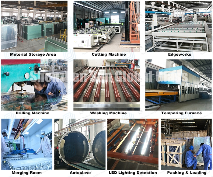 vidrio laminado de color, EVA laminated glass, colour PVB laminated glass production