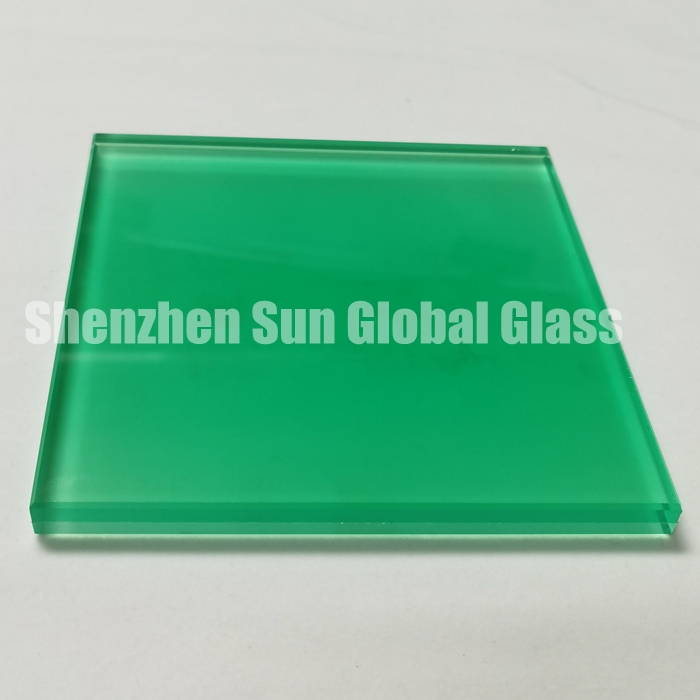 colored PVB laminated glass, acid etched laminated glass, green laminated glass, 66.4 colour ESG VSG, China glass factory, colored frosted glass, CE certificate laminated glass, green acid etched glass