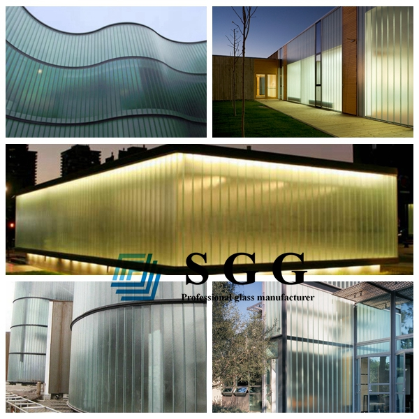 U profiled glass application