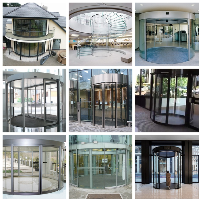 circle design curved glass application