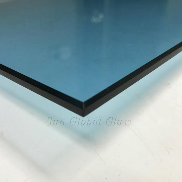 6MM ford blue toughened glass supplier,6MMlight blue