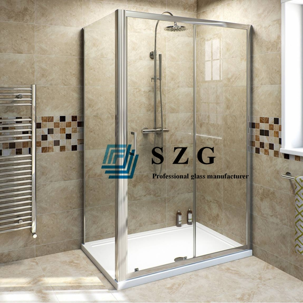8mm clear tempered glass doors, 8mm clear toughened shower door glass, clear shower door easy clean, shower door 8mm