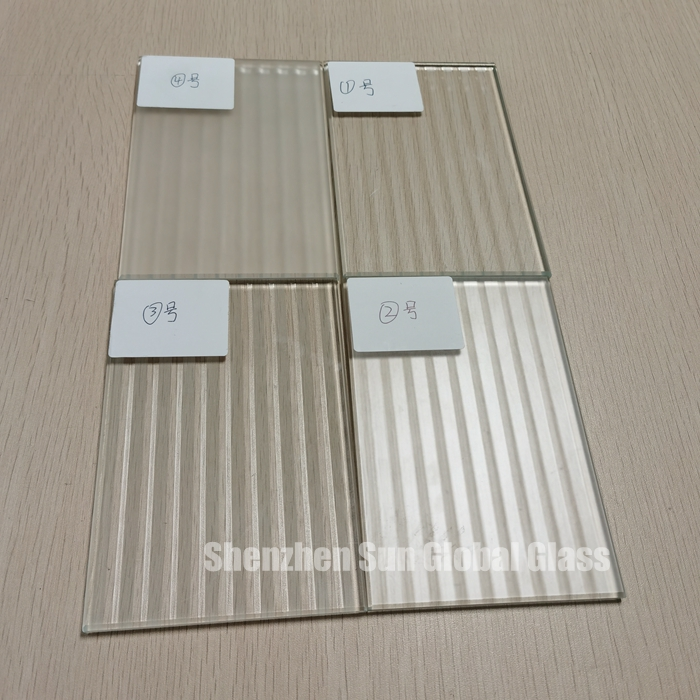 6mm frosted fluted glass