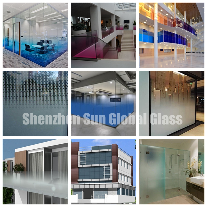 PVB laminated glass colored PVB laminated glass SGCC certified glass factory, CE certified glass factory