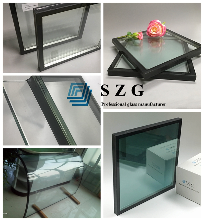 8mm+8mm Euro grey insulated glass, 8mm+8mm light gray tempered double glazed glass, light grey insulated glass price,double glazing