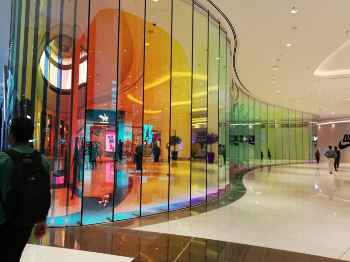 Clear Tempered Laminated Glass 17 52mm , Curved Tempered