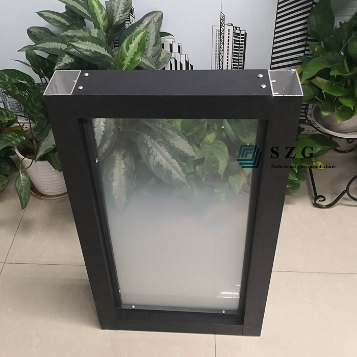 gradient glass partition with frame, partition glass with frame s, glass partition with accessory,  gradient printed tempered glass, 13.52mm gradient laminated glass