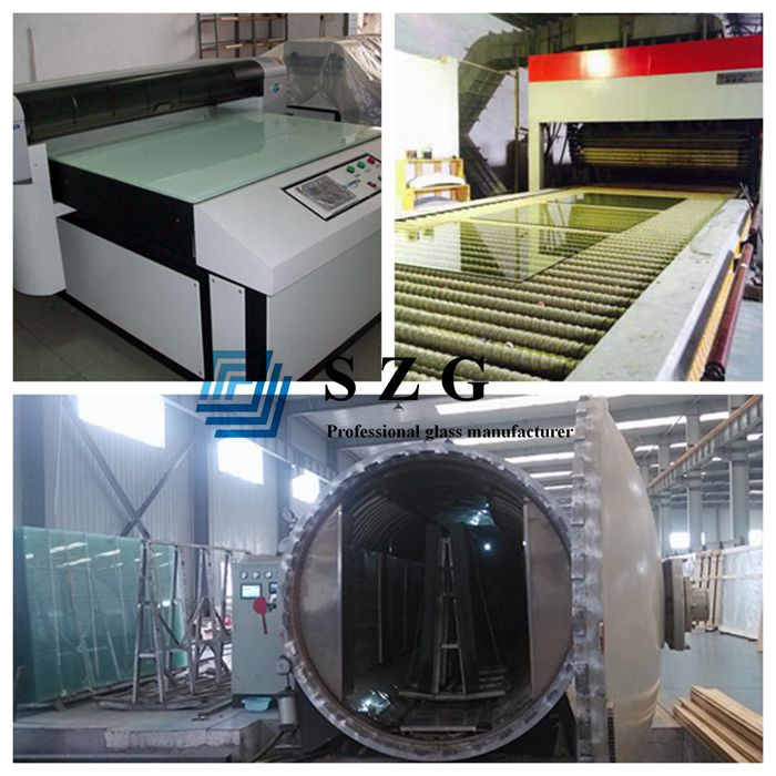 17.52mm digital printing toughened laminated glass, 8+8mm printed tempered laminated glass, 17.52mm printed laminated decorative glass