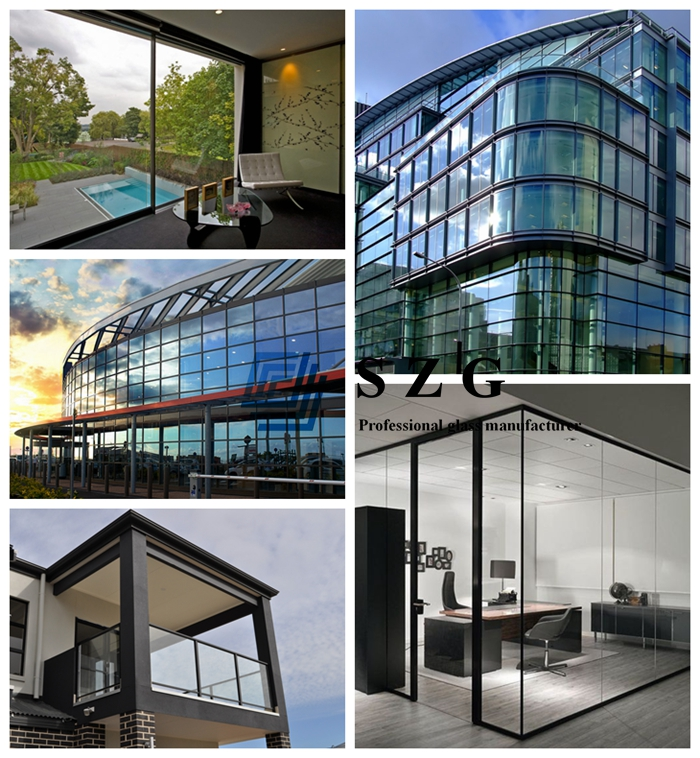 8mm+12A+8mm gray toughened insulated glass, 28mm grey insulating glass, 8mm+8mm double glazed, 8mm+8mm ESG IGU, 28mm double glass unit, 28mm sound proof insulated glass, 8mm+8mm euro insulating glass
