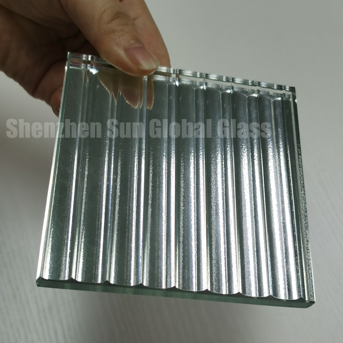fluted mirror laminated glass