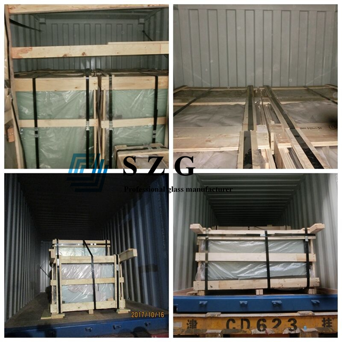 SGP sentry low iron glass laminated, hurricane proof laminated glass ultra clear,