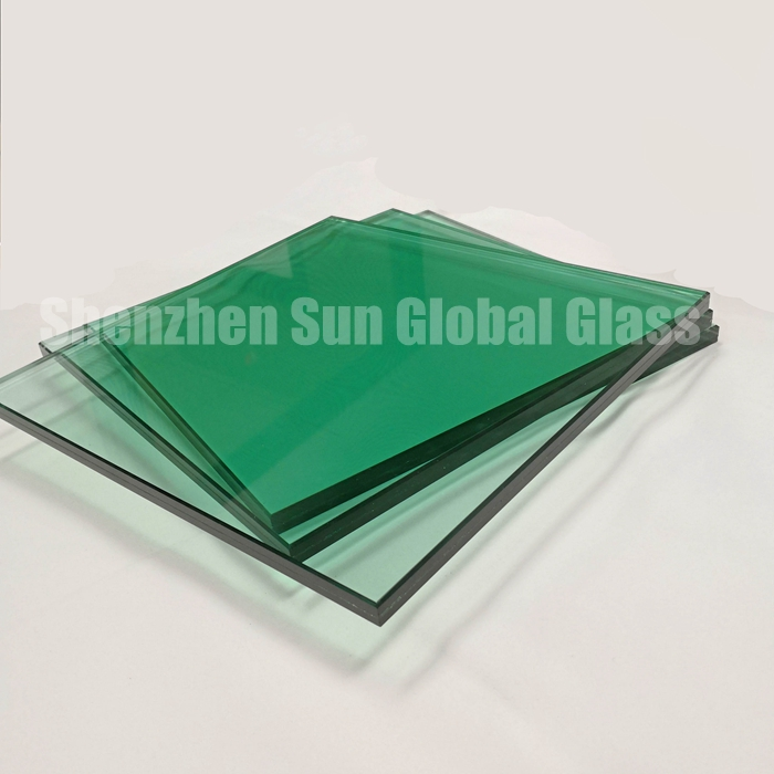 55.4 laminated glass, 5+5 laminated glass, Vidrio laminado, China glass factory, safety glasses, glass suppliers, window glass price, F-green glass, 5+5 PVB green glazed, Proveedor de vidrio de China