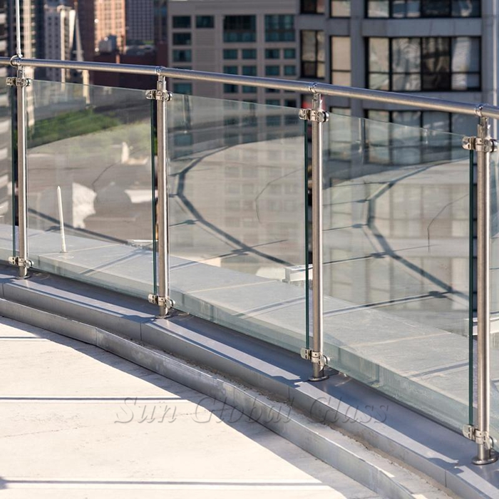 clear laminated glass, glass balustrade, PVB laminated glass, laminated glass railing 8.76mm, glass balustrade, railing glass, glass handrail
