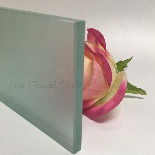 12mm acid etched tempered glass