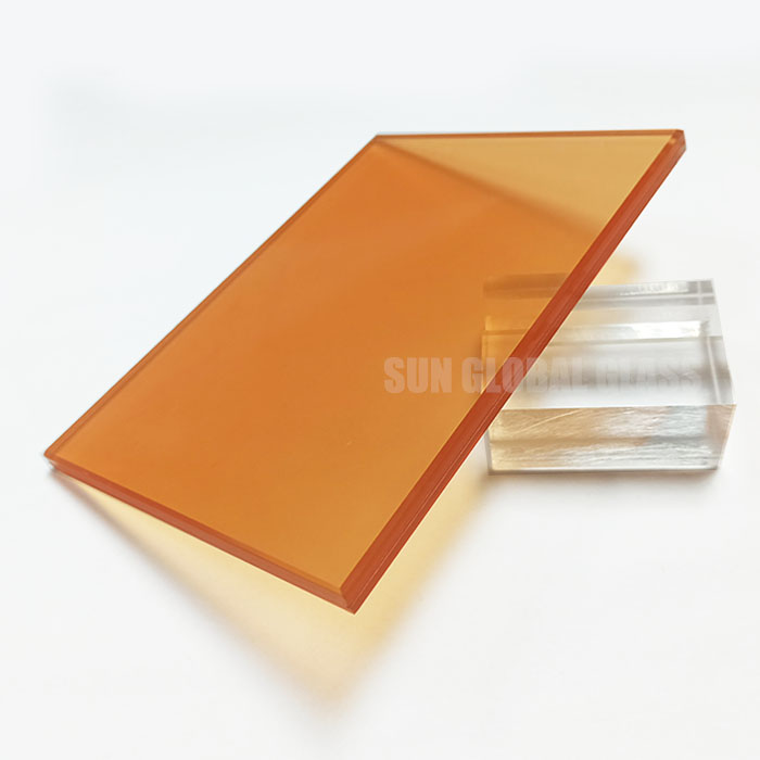 colored tempered laminated glass