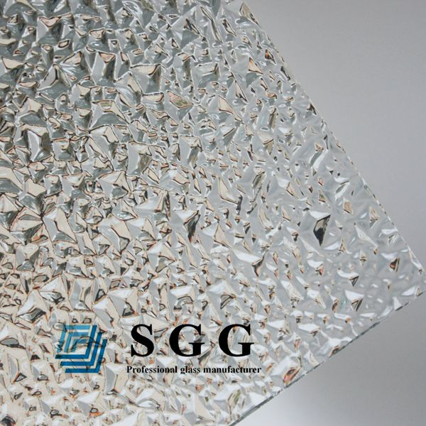 4mm Patterned Glass Panels 4mm Clear Figured Glass Sheet