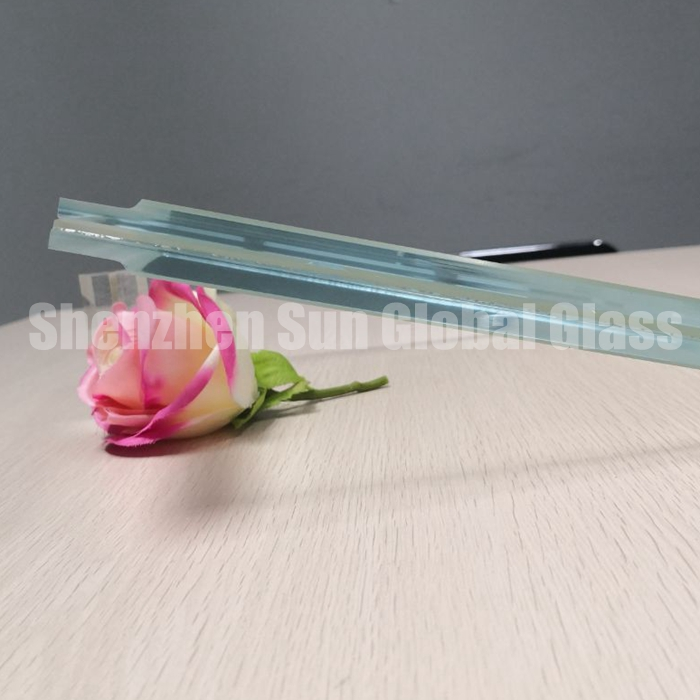 21.52mm ultra clear tempered laminated glass, laminated glass with stepped edge, 21.52mm low iron laminated glass, extra clear toughened laminated glass, railing glass, 21.52 ESG VSG