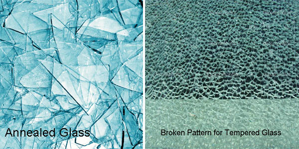 annealed glass and tempered glass