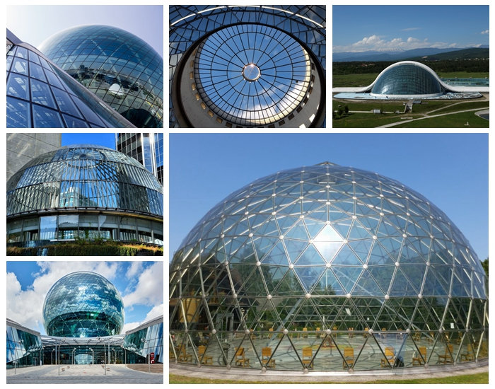 12.28mm sgp laminated glass dome