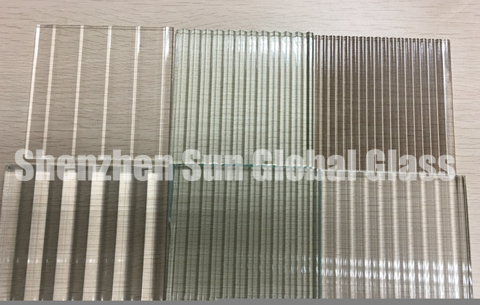 fluted glass, ribbed toughened glass for partitions, decorative patterned glass, ribbed tempered glass, fluted glass for shower room, cast glass, decorative glass, tempered reeded glass, cast tempered glass, toughened ribbed glass
