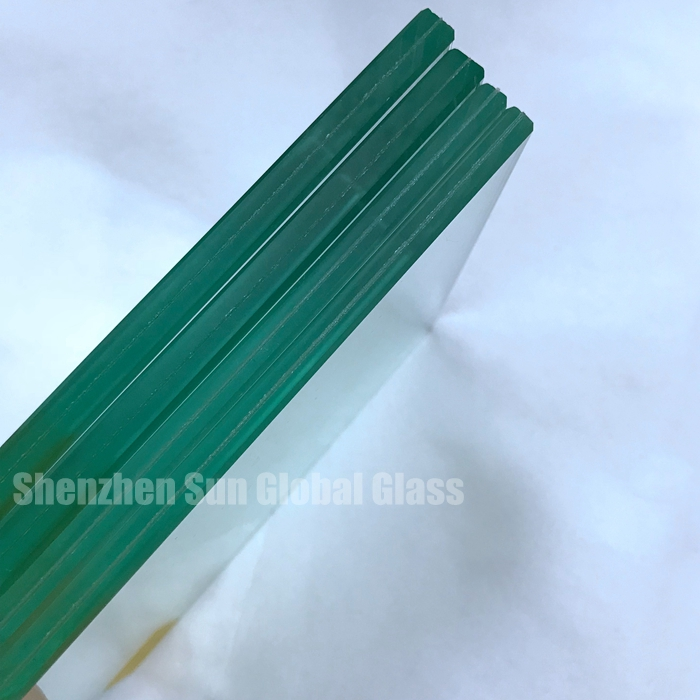 12.38mm clear laminated glass