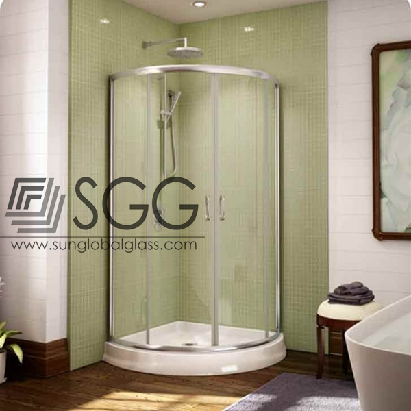 12mm curved shower room glass