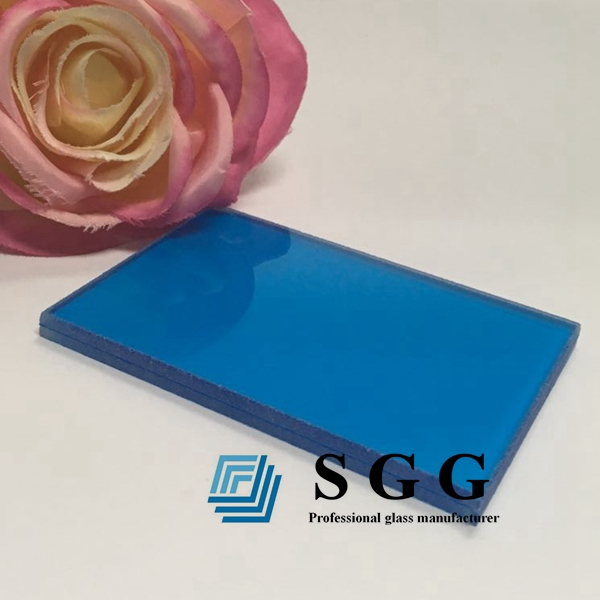 dark blue pvb laminated glass