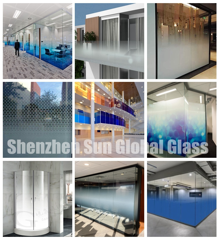 66.4 low iron gradient curved toughened laminated glass, 6mm+6mm curved gradient ESG VSG