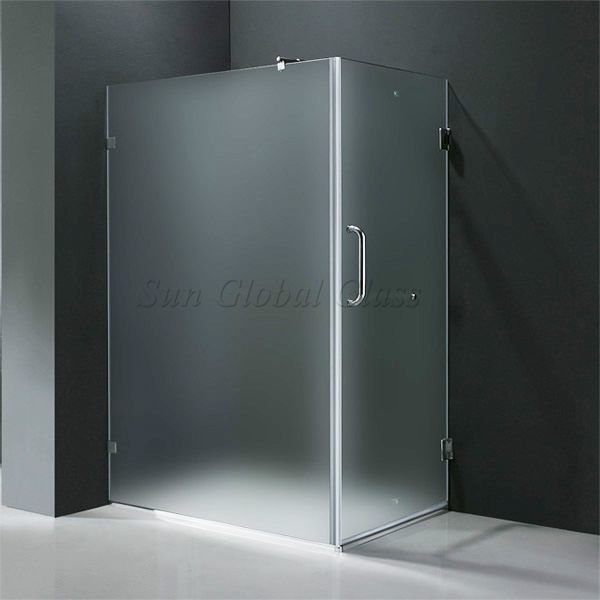 10mm Frosted Tempered Glass Shower Door Glass Supplier
