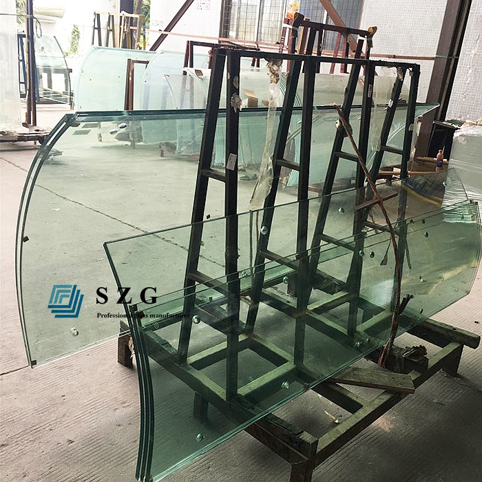 10mm 12mm 15mm 19mm curved toughened glass railing