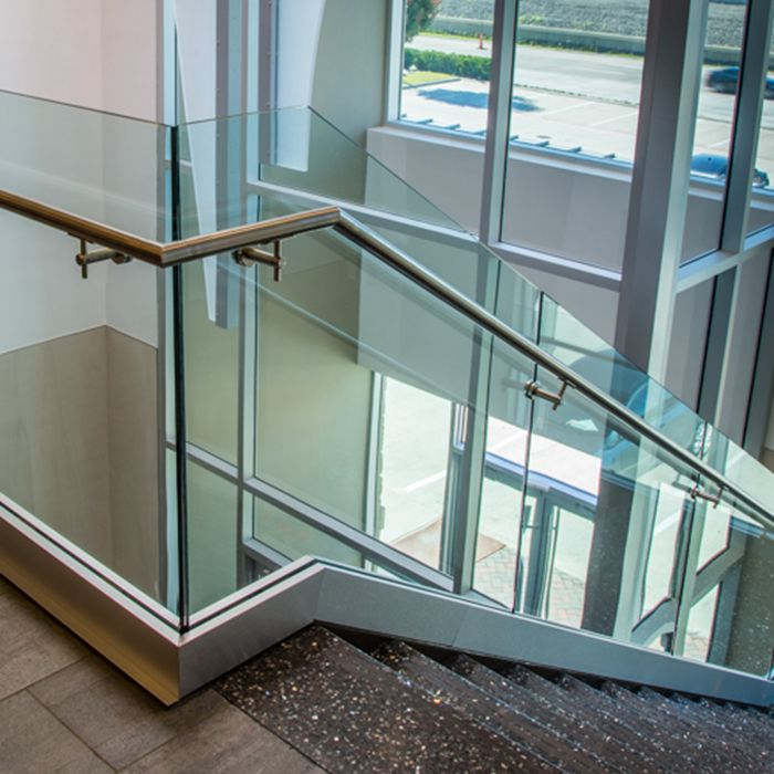 11.14mm clear tempered laminated glass balustrade, 5mm+5mm clear toughened laminated glass railing, 11.14mm ESG VSG balustrade