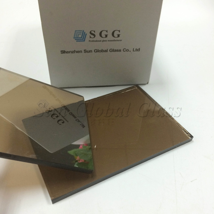 bronze reflective tempered glass