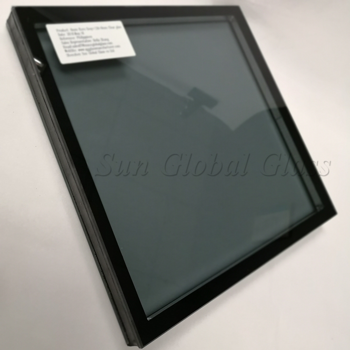 Insulated glass, double glazing glass, gray toughened double glazed, grey tempered insulated glass, tempered double glazed, double glazed glass China factory, 8mm+8mm ESG DGU