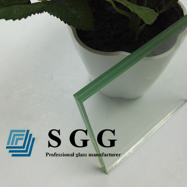 8.76mm clear laminated tempered glass panel