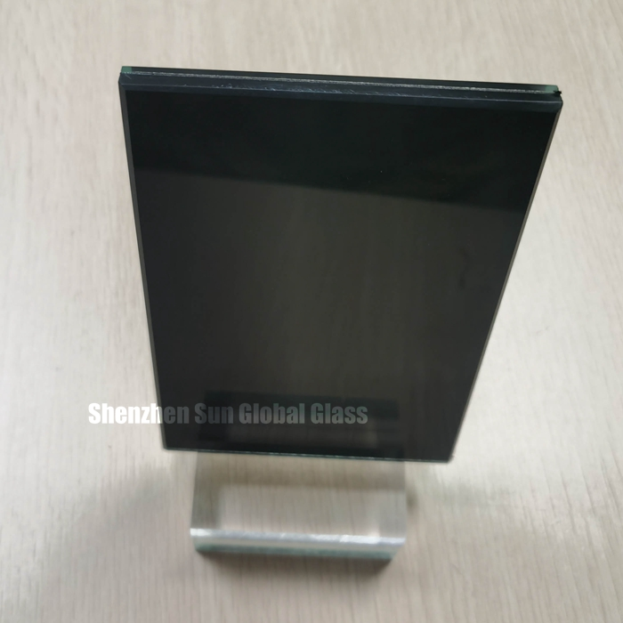 SGCC and CE certificated 10.76mm black color pvb laminated glass