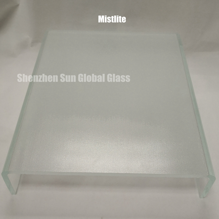 U shaped channel profiled glass