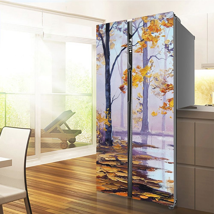 3.2mm tempered printing refrigerator glass door, toughened silk screen print glass door for fridge, glass door for beverage cooler