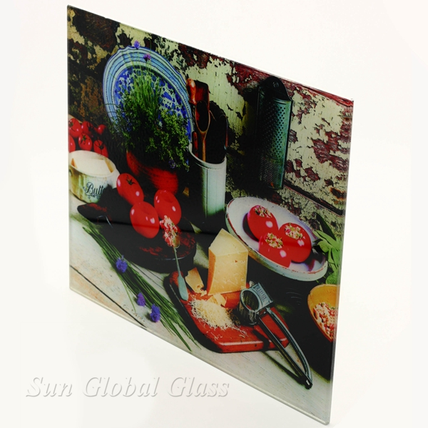 6mm digital printing glass