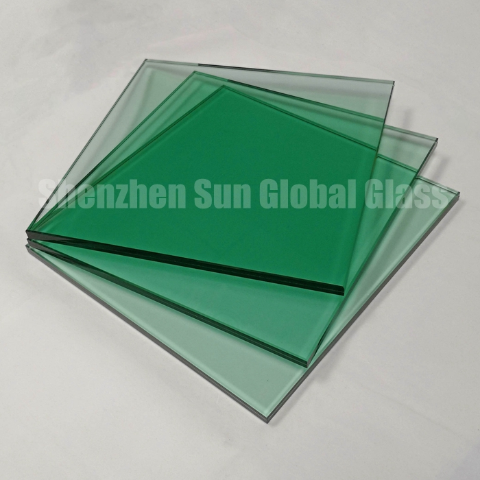 11.52mm color laminated glass, 5+5 light green tempered laminated glass, 11.52mm green ESG VSG, green toughened laminated glass, laminated glass manufacturer, laminated glass