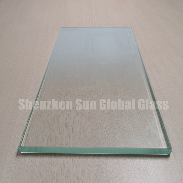 21.52mm low iron white gradient tempered laminated glass, 1010.4 ultra clear gradient toughened laminated glass panel, 10+1.52+10 extra clear gradient ESG VSG glass