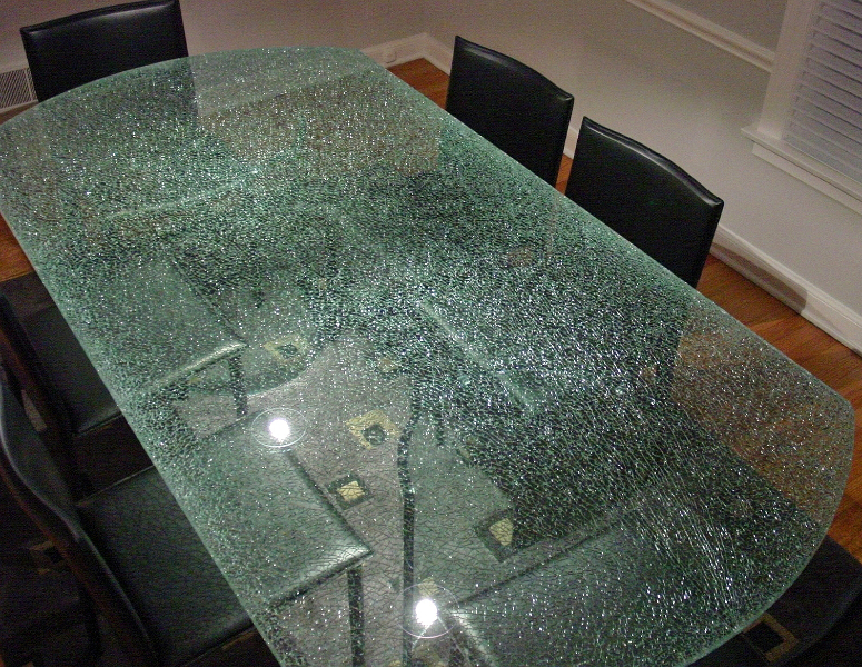 Beautiful Broken Glass Table Tops, Shattered Glass Table Tops, Cracked Glass Table  Tops, 8mm