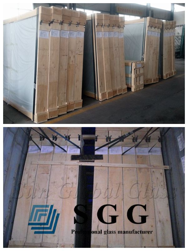 high quality 8.38mm ceramic glass on sale, opaque white PVB laminated glass, porcelain laminated safety glass sheets