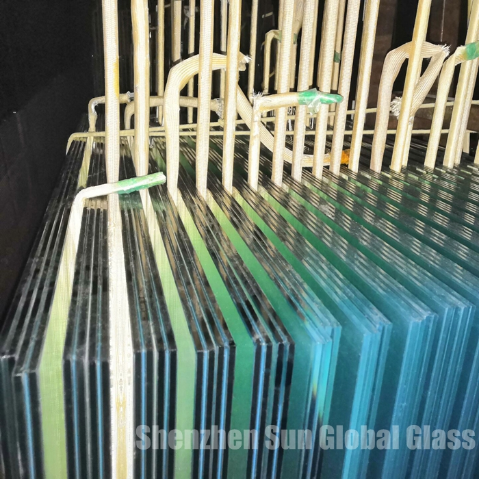 13.52mm tempered glass for Roofing glass panels